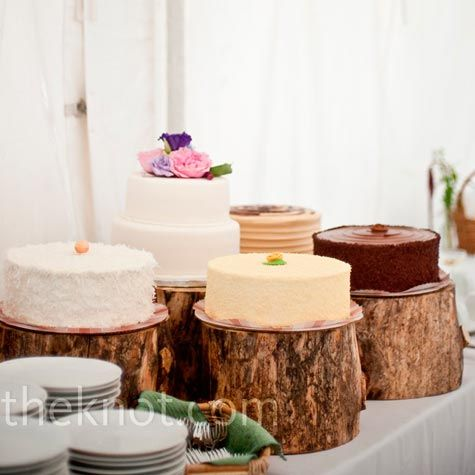 tree trunk cake plate...perfect theme with the tree house!!!