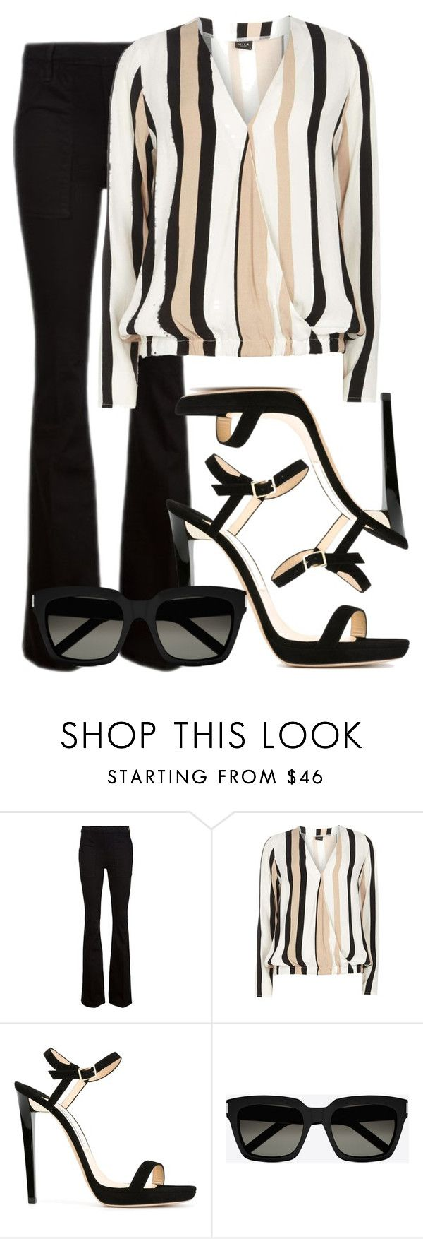 """modern"" by mint56 ❤ liked on Polyvore featuring Frame Denim, Dorothy Perkins, Jimmy Choo, Yves Saint Laurent and modern"