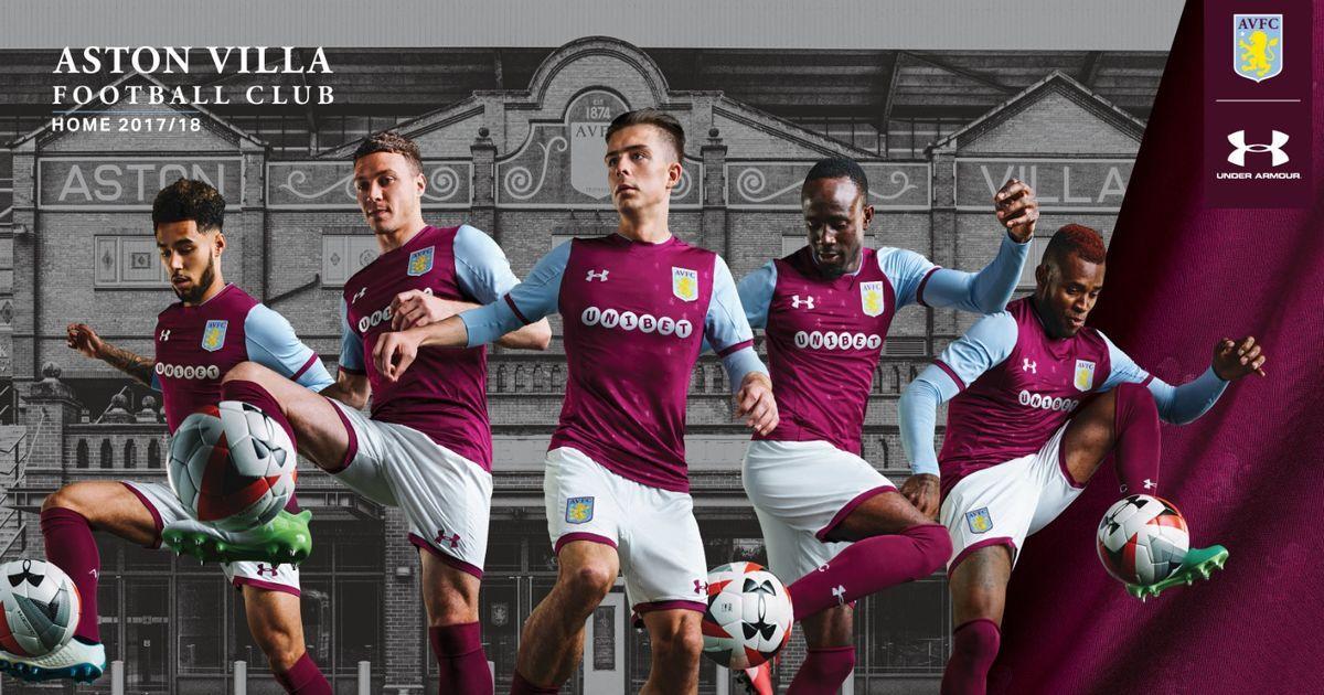 Aston Villa's new kit Here's how the advertising spiel