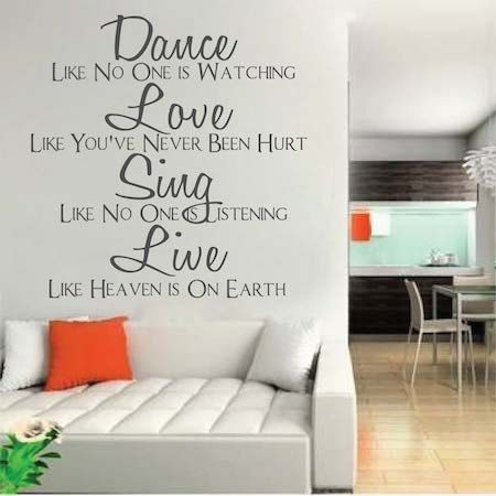 Dance Like No One Is Watching Wall Quote Inspirational House Quotes Sticker  Life Quote Living Room Removable Wall Dining Room Vinyl Mural 6d