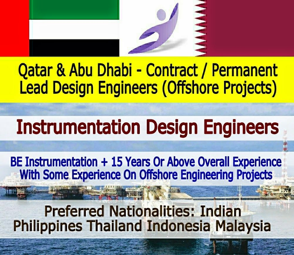 Multiple Positions Lead Instrumentation Design Engineers