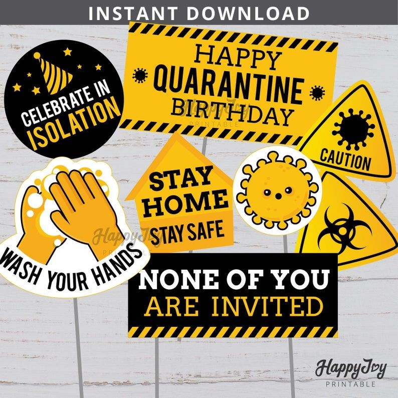 Pin on quarantine party