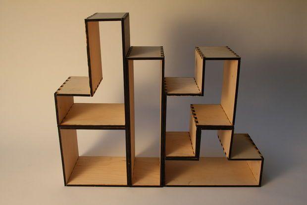 Book shelf autocad google 39 da ara product design for Tetris bookshelf