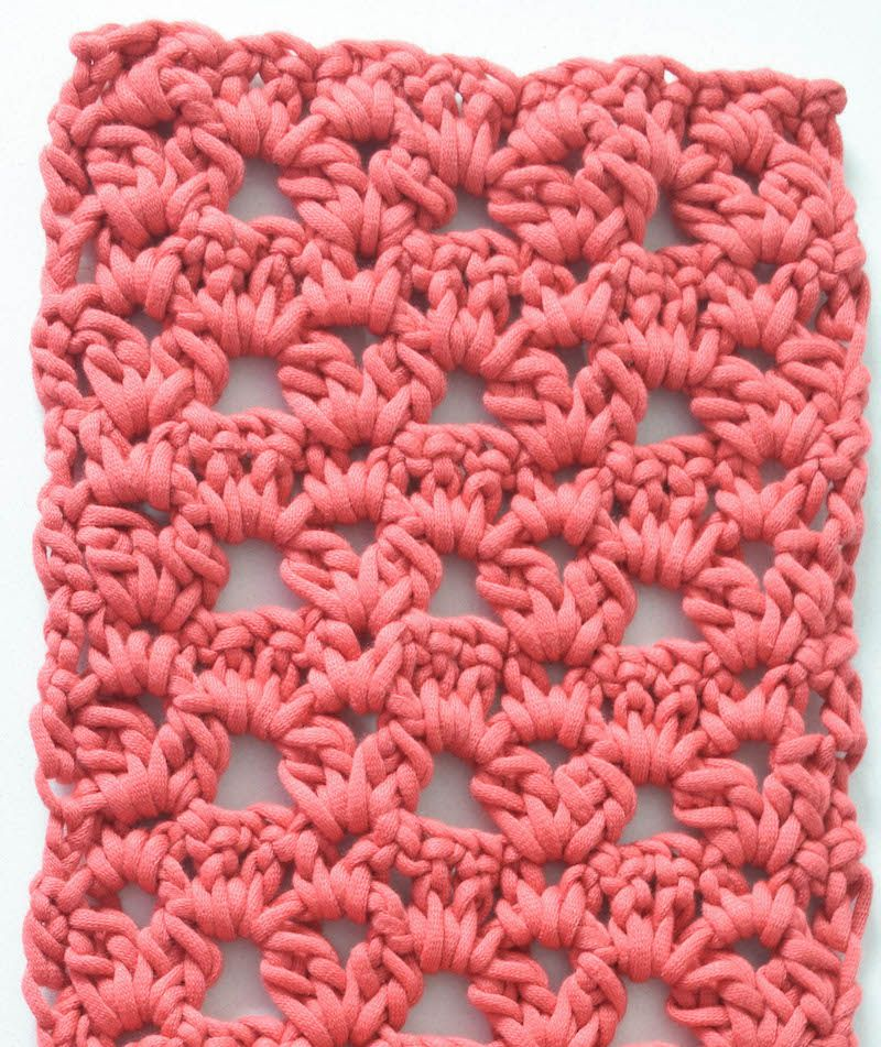 Clusters And Vs Lace Scarf Free Crochet Pattern In Bernat Maker