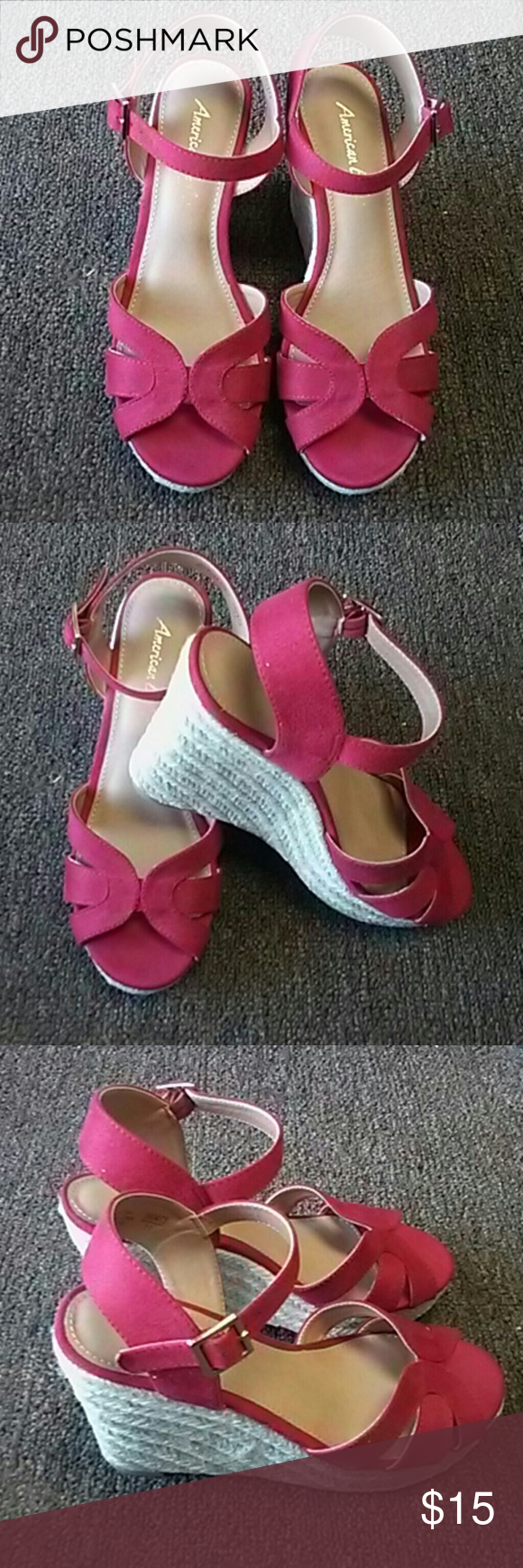 fe9fd211416d Red wedges Beautiful casual red shoes American Eagle By Payless Shoes  Sandals