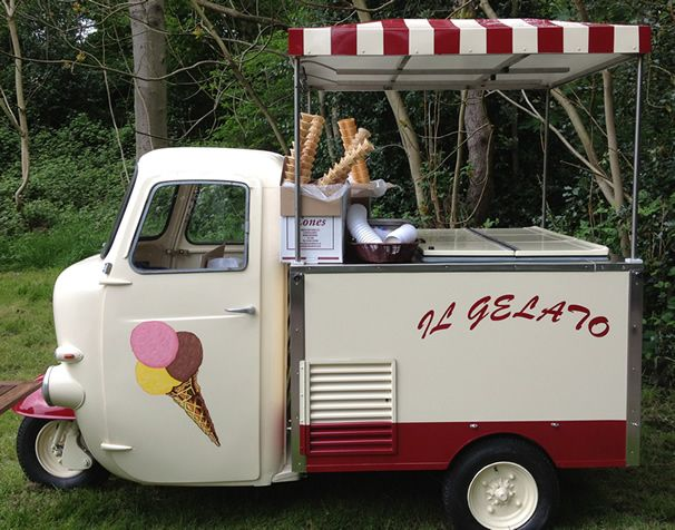 14147bd1e2071c Piaggio Ape · Mobile Cafe · ice cream bike. Food Truck For Sale