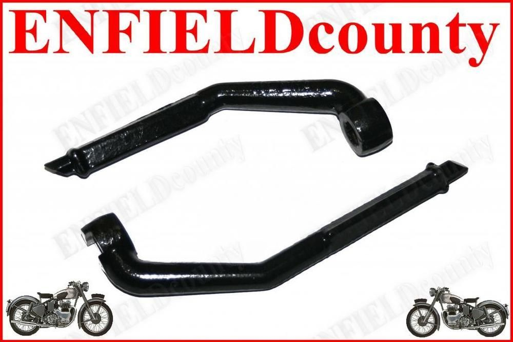 Royal Enfield Rear Brake Pedal Lever With Rubber Black Chrome Bullet Foot Pedal