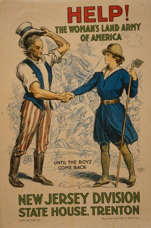 The Women S Land Army Farmettes For Suffrage During World War I Women S Land Army Propaganda Art Ww1 Propaganda Posters