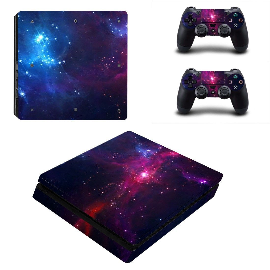 Open Galaxy With Star Ps4 Slim Skin Decal For Console And 2