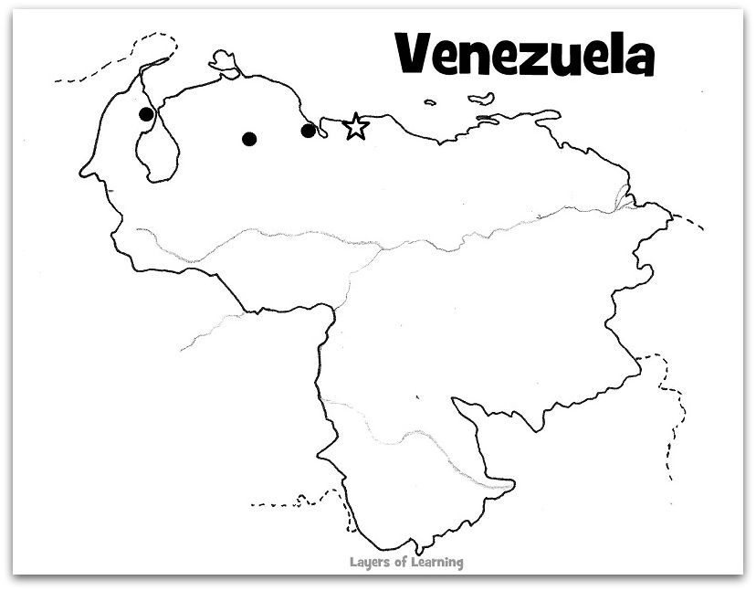 Country Study Venezuela Maps For Kids World Cultures Learning