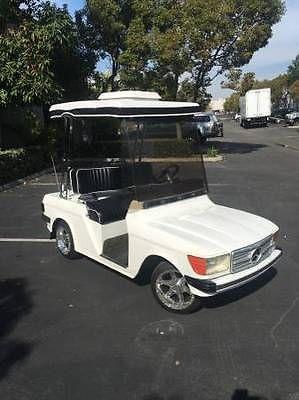 Custom Mercedes Benz Golf Cart White Alloy Rims Golf Carts Golf