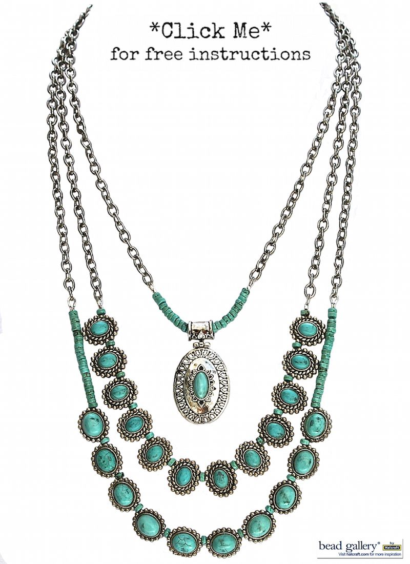 Las Cruces Necklace featuring #BeadGallery beads available ...