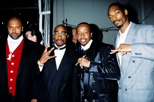 Suge Knight, 2Pac, MC Hammer and Snoop Dogg. Death Row Records