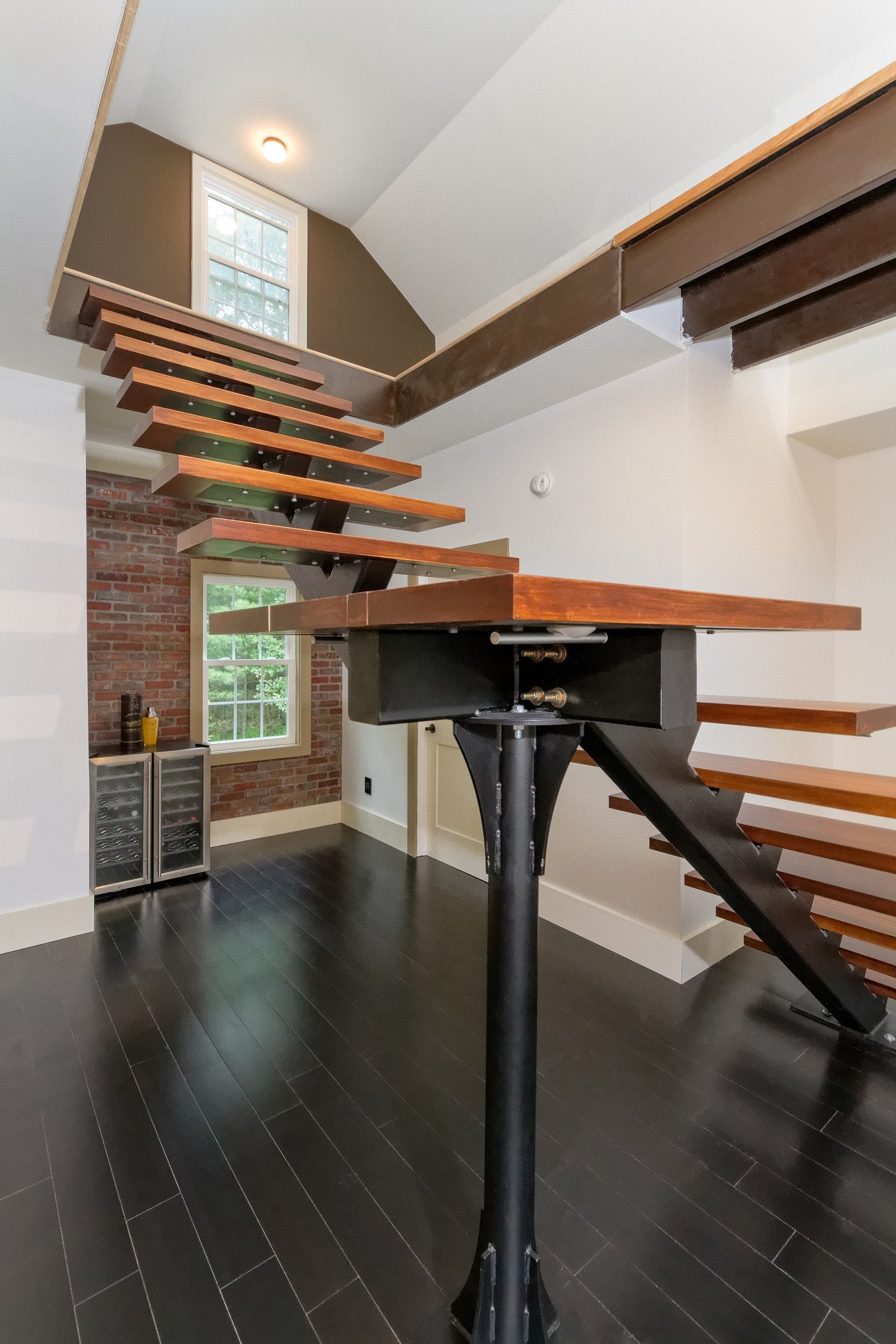 Residential Monostringer Floating Stair Me Floating Stairs