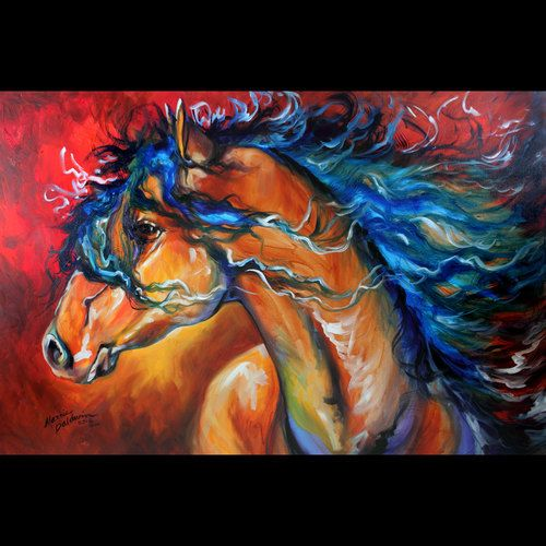 A NEW INDIAN WAR HORSE ORIGINAL ~ limited time auction on ebay !!