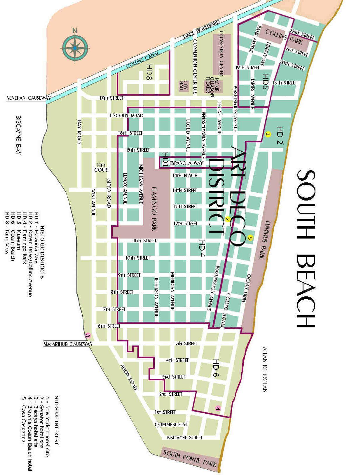 Map Of South Beach Florida Miami Mapas Pinterest South Beach - Map florida keys hotels