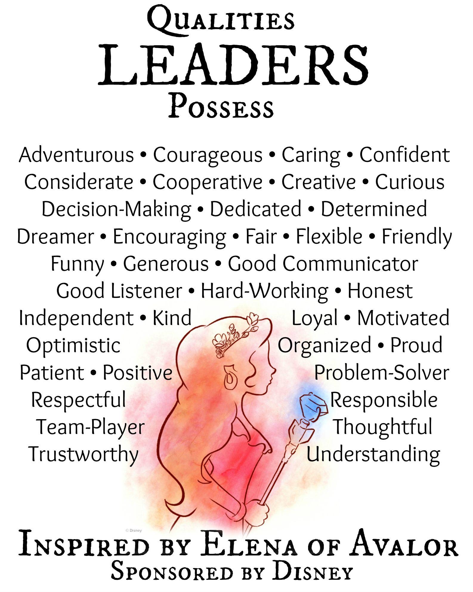 qualities of a princess