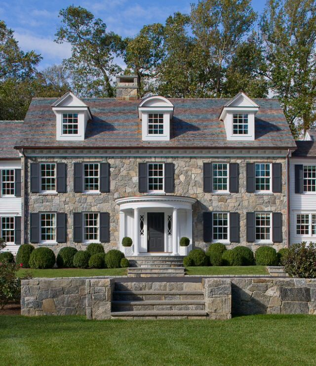 Beautiful Federal Style Home For When I Get Out Of My Modern Country Rustic Stage House Exterior Colonial House Traditional Exterior