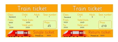 Editable RailTrain Tickets free download Used this one for – Bus Ticket Template