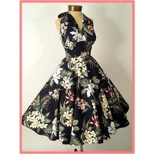 Retro+Vintage+Dresses | Retro Clothing-50s Vintage Reproduction Dress-Hawaiian Dresses-Vintage ...