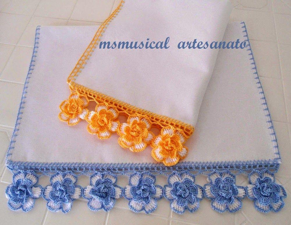 Barrado Com Flores De Croche Padroes De Bainhas De Croche