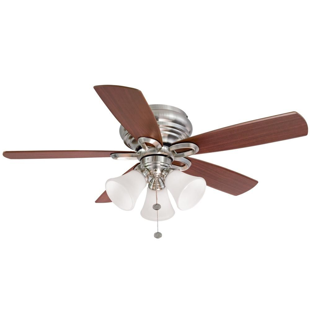 Hampton bay maris in led brushed nickel ceiling fan products
