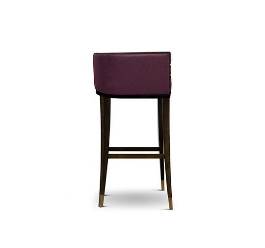 Elegant Barstuhl Messing Beistelltisch Modernes Design Minimalismus Design Minimalist Decor Designer M bel
