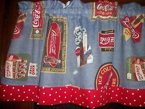 Coca-Cola Kitchen Curtains | ... Coca Cola Red White Polka ...