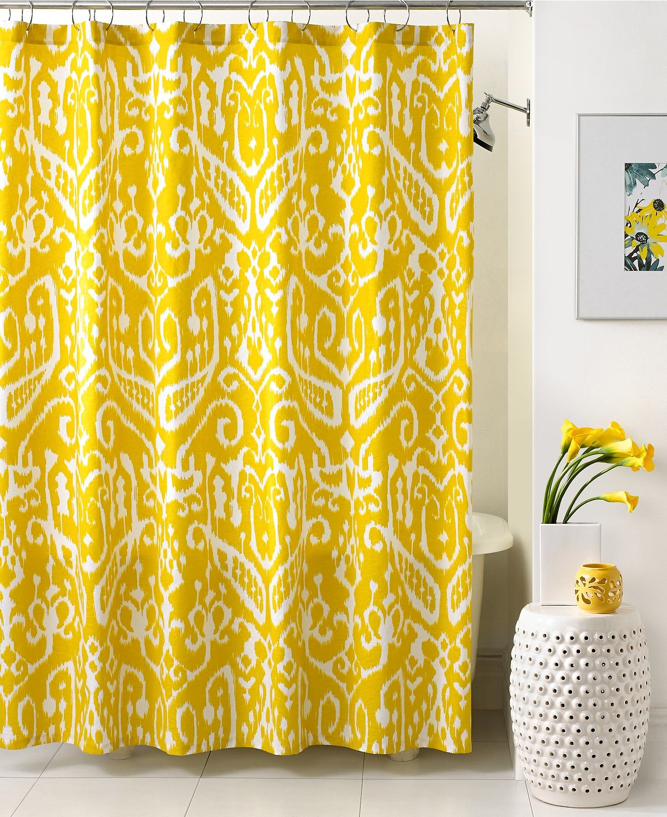 trina turk bath ikat shower curtain shower curtains accessories ...