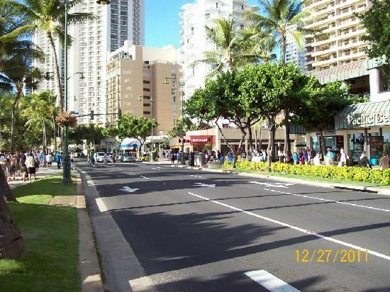 Kalakaua Ave Or What I Call The Main Strip In Between Waikiki Beach