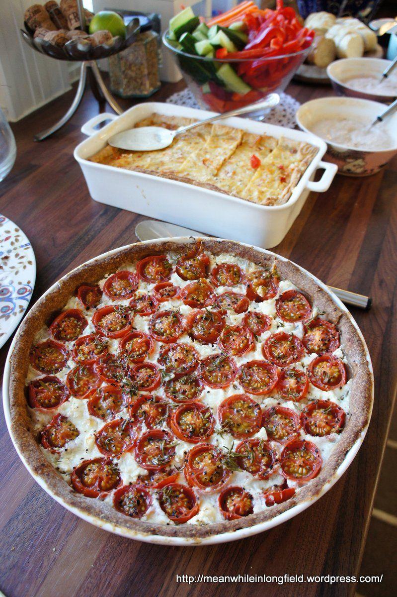 tomaatti-vuohenjuustopiirakka