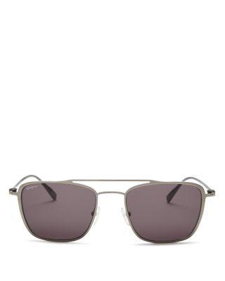 SALVATORE FERRAGAMO Gancini Navigator Sunglasses, 54mm. #salvatoreferragamo #54mm