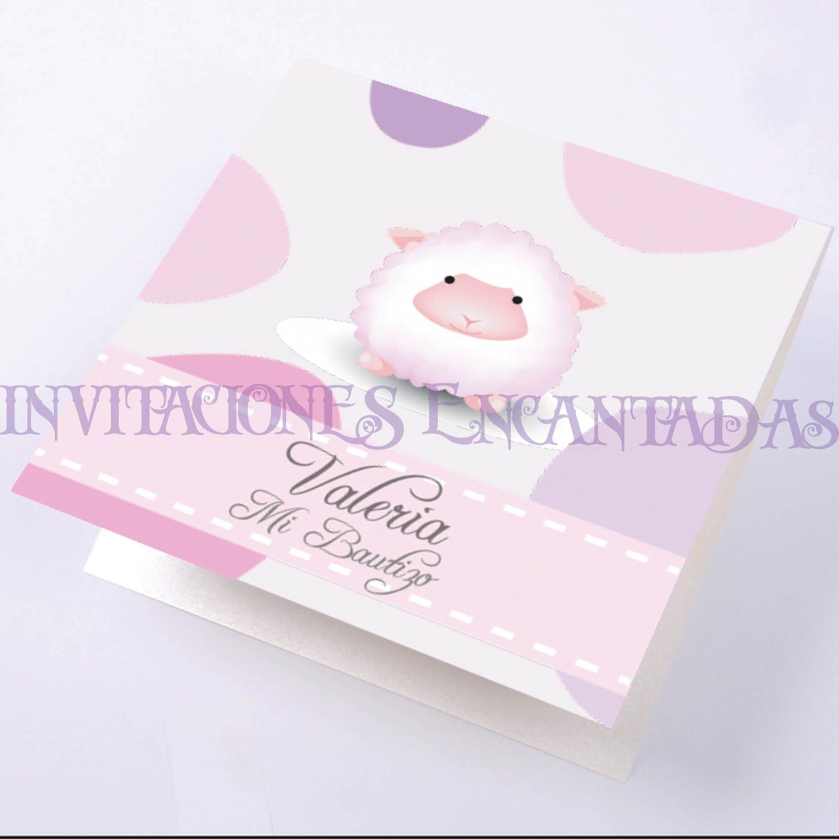 Invitacion de Bautizo Modelo: Babysimple 4