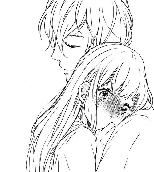 Anime Boy Girl Hugging Abrazo Anime Anime Novios Parejas De