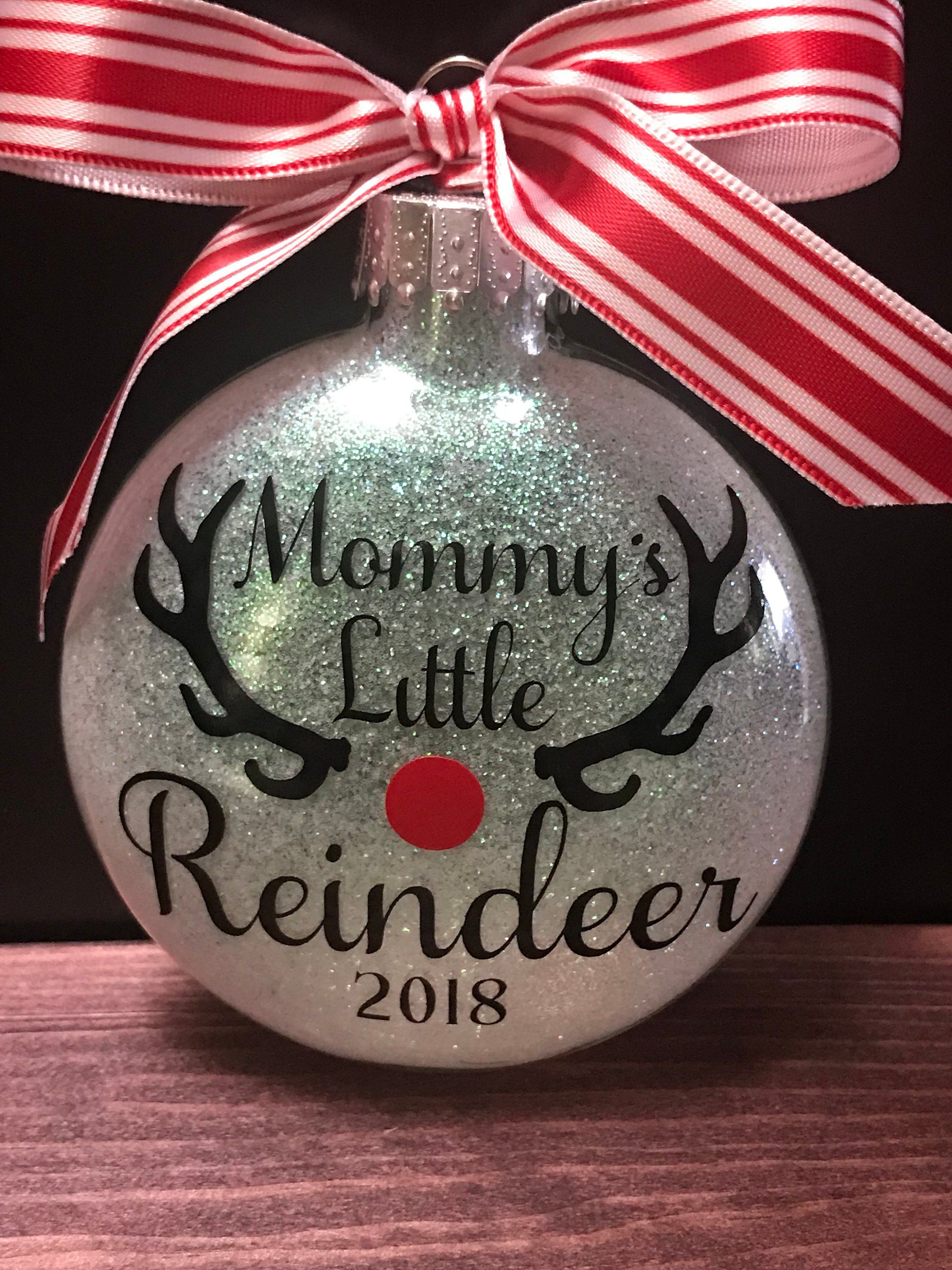 Reindeer Ornament 1st Christmas First Christmas Glass Etsy In 2020 Vinyl Christmas Ornaments Baby S 1st Christmas Ornament Christmas Ornaments Homemade