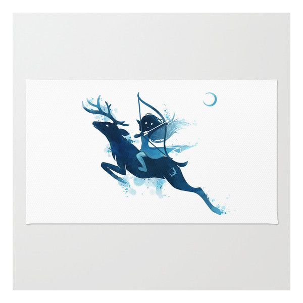 Bathroom Rugs Elf Archer Rug liked on Polyvore featuring home rugs animal
