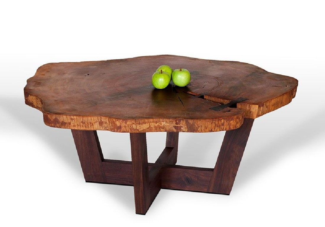 wood slab table coffee table wood