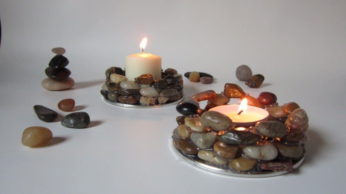 Upgrade Your Place With These Easy To Make Diy Candle Holders Read More To Find Out The Inspiring Ideas Ca Diy Candle Holders Stone Candle Holder Diy Holder