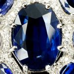 Sapphire Dome Ring by Ava Alexander