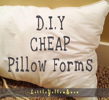 CHEAP DIY Pillow Forms DIY Pinterest Pillows Household And Craft Beauteous Cheap Down Pillow Inserts
