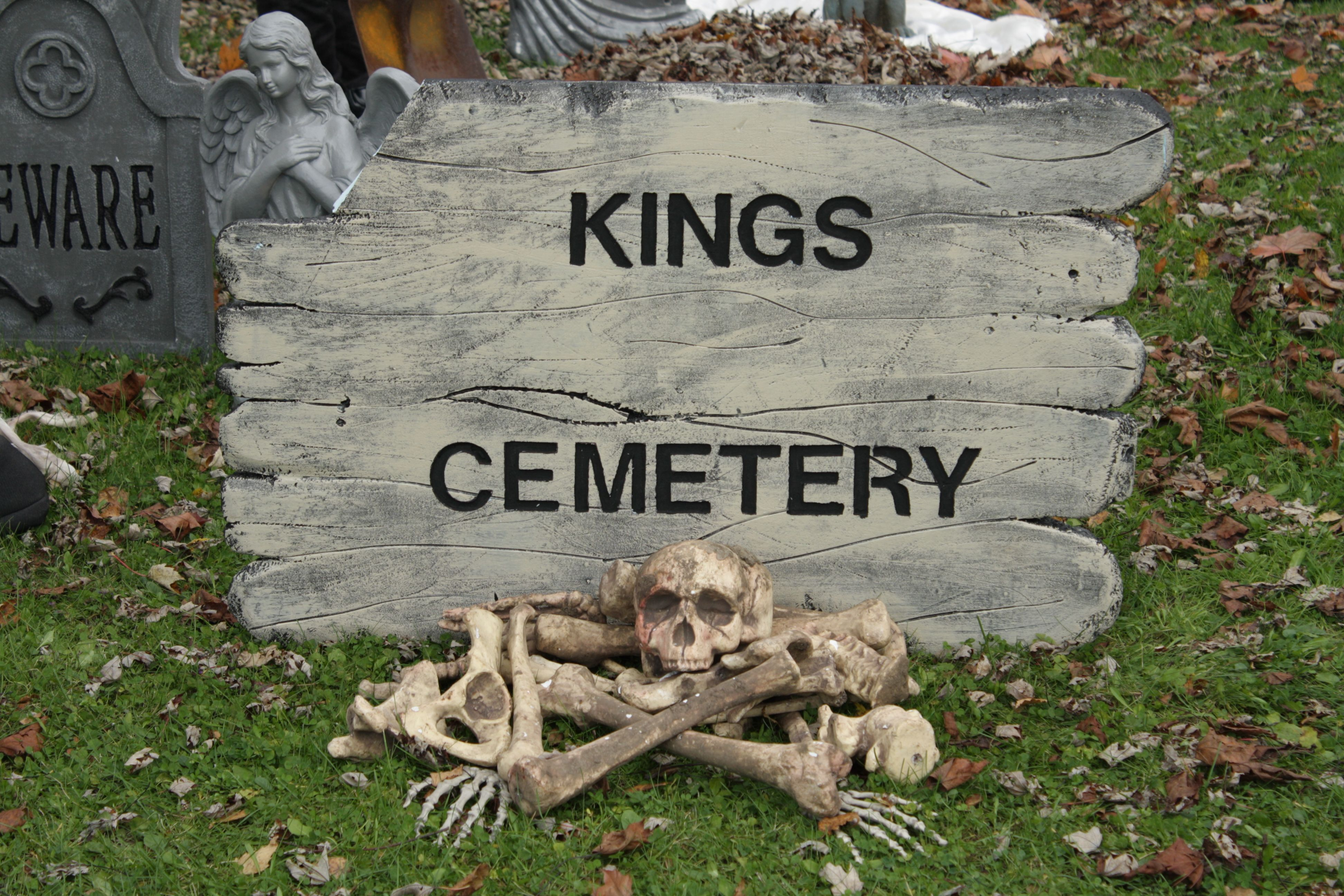 Every cemetery needs a sign!