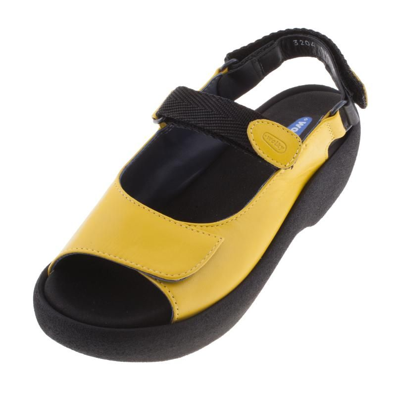 Wolky Womens Ladies 3204 Jewel Yellow Leather Sandal - £95.99 - Top quality Wolky footwear from Barnets Shoes