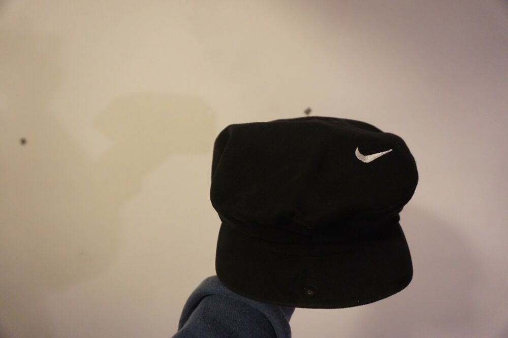 Vintage Nike Black Beret News Boy Golf Hat Size Small Fashion Clothing Shoes Accessories Mensaccessories Hats Ebay Black Nikes Vintage Nike Black Berets