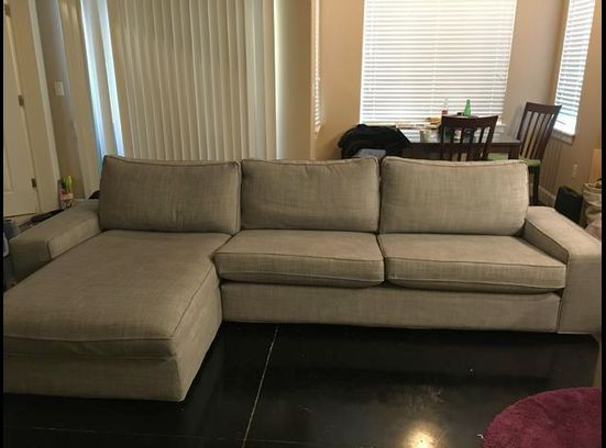 #Ikea   #KIVIK #Sectional, 4 Seat, Isunda Gray  OBO