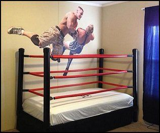 How to Make a DIY WWE Wrestling Bed   Orion room   Pinterest   Boy ...