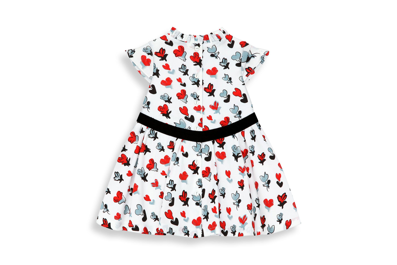 Vestido estampado de mangas cortas de popelina de algodón stretch - Dior