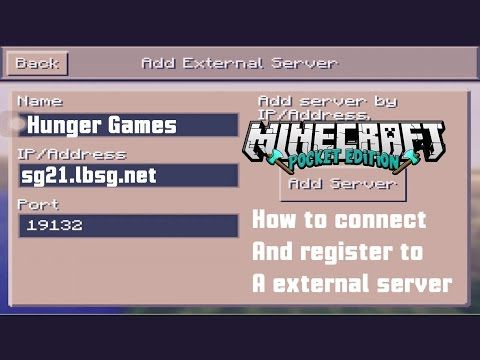 Minecraft Pe How To Connect And Register To A External Server 0 12 1 Minecraft Pe Minecraft Minecraft Pe Seeds