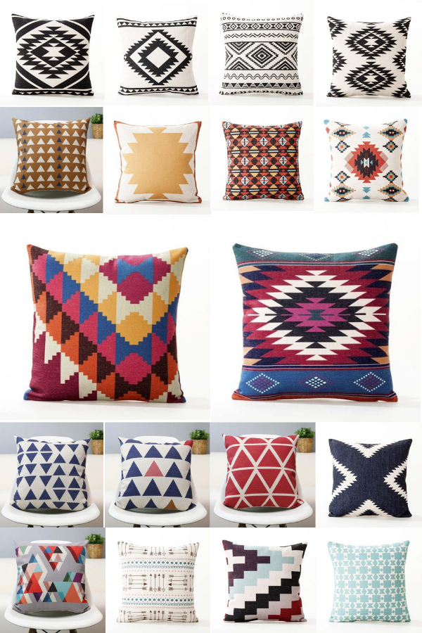 18x18 Southwest Geometric Throw Pillow Covers Native American