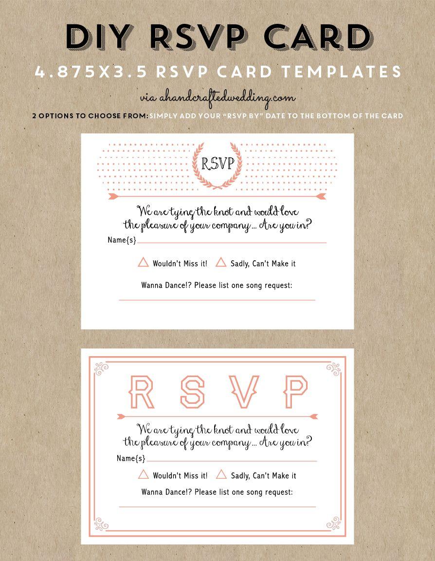 Free printable wedding invitation template in 2020 rsvp