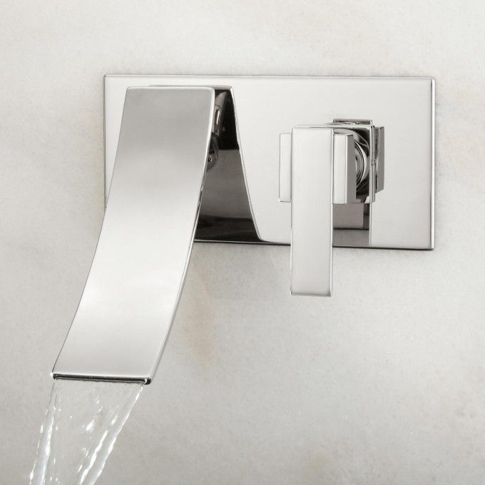 Reston Wall Mount Waterfall Bathroom Faucet Modern Faucets
